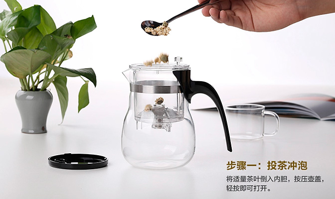 Засыпаем чай в типот samaDOYO E-05