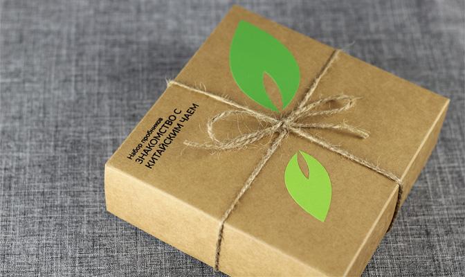 Коробка с набором пробников китайского чая
